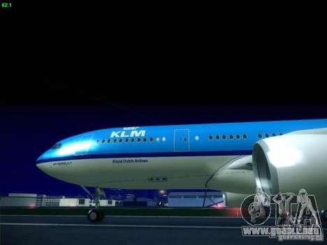 Airbus A330-200 KLM Royal Dutch Airlines para la visión correcta GTA San Andreas