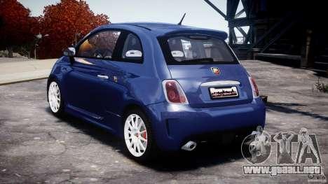 Fiat 500 Abarth SS para GTA 4 visión correcta