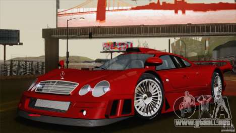 Mercedes-Benz CLK GTR Race Road Version Stock para vista inferior GTA San Andreas