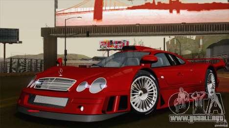 Mercedes-Benz CLK GTR Race Road Version Stock para vista inferior GTA San Andreas