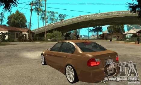 BMW E90 M3 para GTA San Andreas vista posterior izquierda