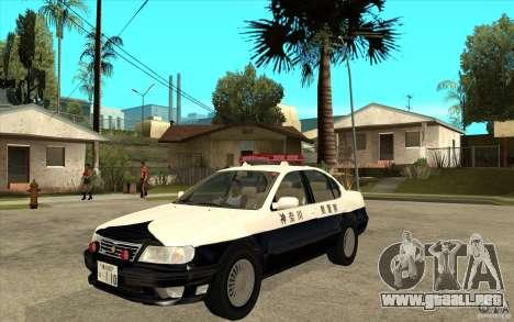 Nissan Cefiro A32 Kouki Japanese PoliceCar para la visión correcta GTA San Andreas