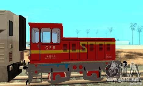 Locomotora LDH 18 para GTA San Andreas vista posterior izquierda