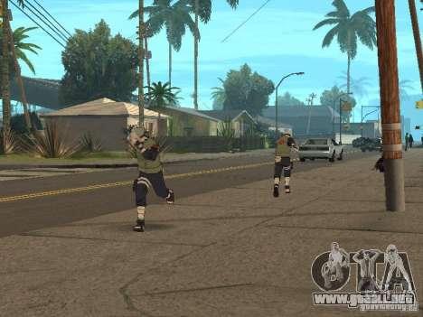 Hatake Kakashi From Naruto para GTA San Andreas sexta pantalla