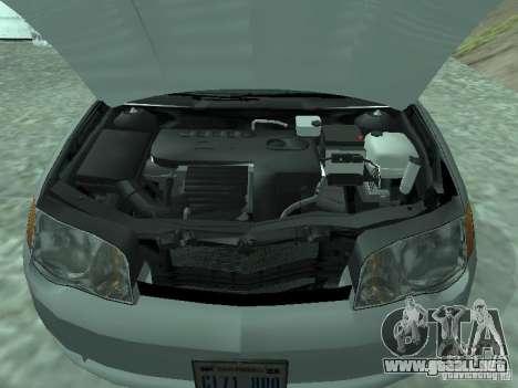 Saturn Ion Quad Coupe 2004 para la visión correcta GTA San Andreas