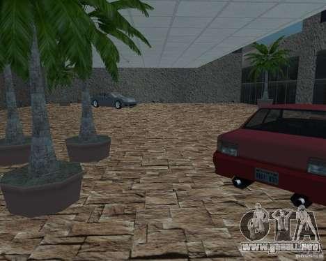 Salón del automóvil de SF para GTA San Andreas tercera pantalla