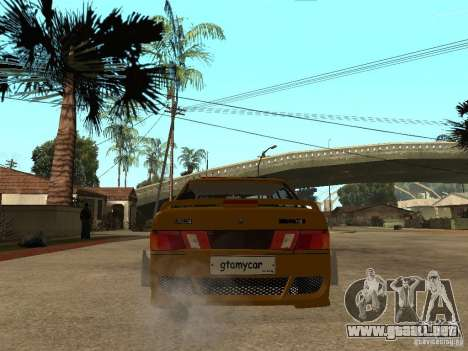 VAZ 2115 policía coches Tuning para GTA San Andreas vista posterior izquierda