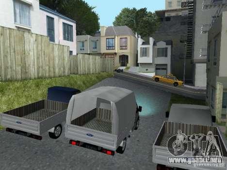 Ford Transit 2005 para GTA San Andreas left