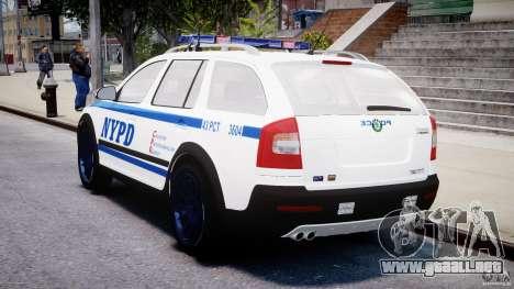Skoda Octavia Scout NYPD [ELS] para GTA 4 vista superior