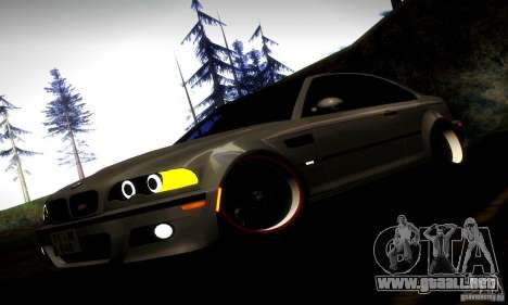 BMW M3 JDM Tuning para vista inferior GTA San Andreas