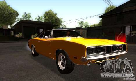 Dodge Charger RT 1969 para GTA San Andreas vista hacia atrás