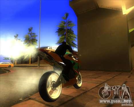 Honda CBR 600RR evo 2005 para la visión correcta GTA San Andreas