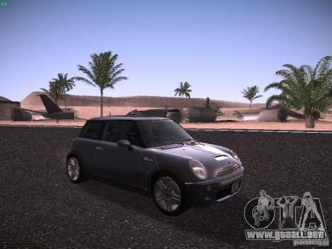 Mini Cooper S para GTA San Andreas left