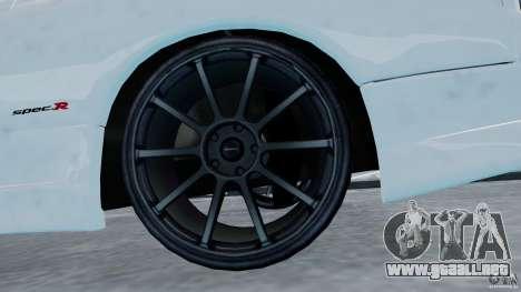 Nissan Silvia S15 para GTA 4 vista hacia atrás