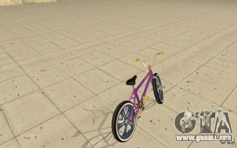 Spin Wheel BMX v1 para GTA San Andreas vista posterior izquierda