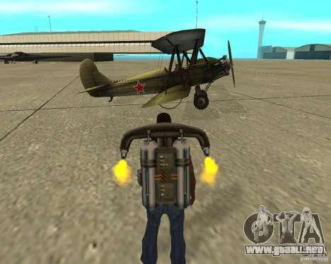 En-2 para GTA San Andreas vista hacia atrás