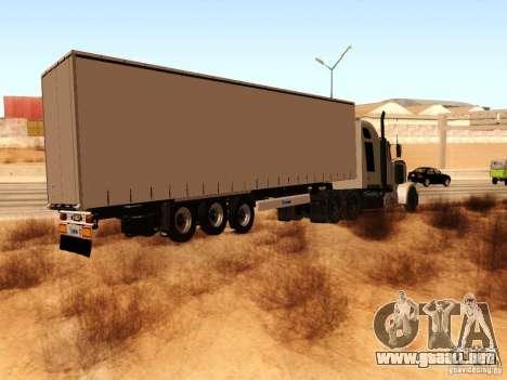 Western Star 4900 para la visión correcta GTA San Andreas