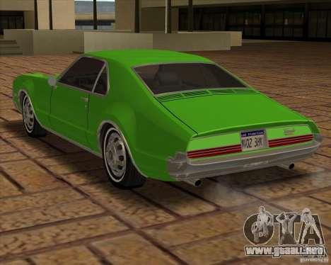 1966 Oldsmobile Toronado para GTA San Andreas vista hacia atrás
