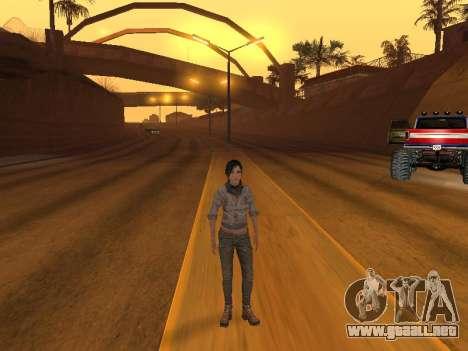 FaryCry 3 Liza Snow para GTA San Andreas tercera pantalla