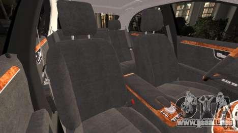 Mercedes-Benz S W221 Wald Black Bison Edition para GTA 4 vista interior