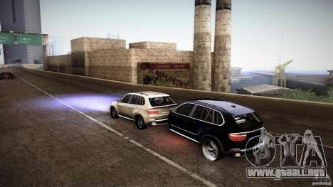 BMW X5 with Wagon BEAM Tuning para GTA San Andreas vista posterior izquierda