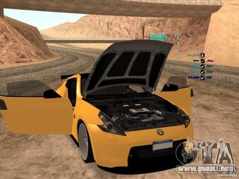 Nissan 370Z para visión interna GTA San Andreas