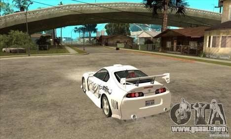 Toyota Supra NFSMW Tunable para vista inferior GTA San Andreas