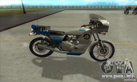 Kawasaki KZ1000 MFP para GTA San Andreas left