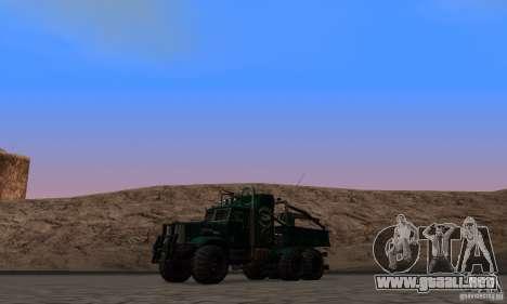 KrAZ 255 B1 Krazy-cocodrilo para vista lateral GTA San Andreas