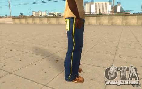 Karl Kan Puzzle Jeans para GTA San Andreas sucesivamente de pantalla