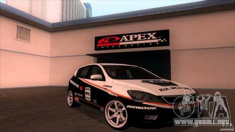 Kia Ceed 2011 para visión interna GTA San Andreas