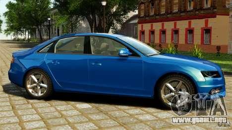 Audi A4 2010 para GTA 4 left