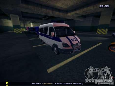 Policía gacela 2705 para GTA San Andreas