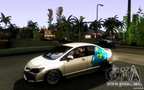Honda Civic FD BlueKun para vista lateral GTA San Andreas