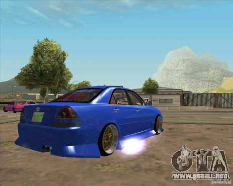 Toyota JZX110 make 2 para GTA San Andreas vista posterior izquierda