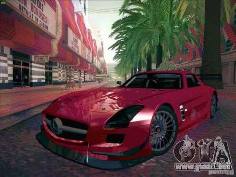 Mercedes-Benz SLS AMG GT-R para GTA San Andreas vista hacia atrás