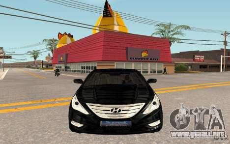 Hyundai Sonata 2012 para GTA San Andreas left