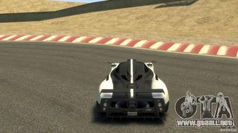 Pagani Zonda Cinque 2009 para GTA 4 visión correcta