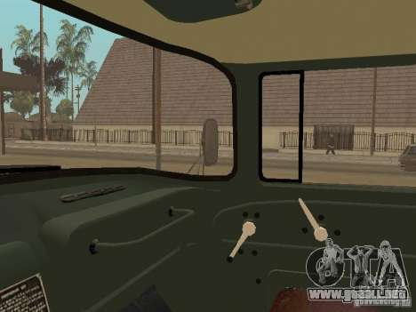 ZIL 131 camión para vista lateral GTA San Andreas
