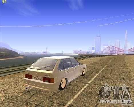 VAZ 2109 Tuning para GTA San Andreas vista posterior izquierda