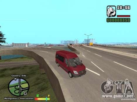 Mercedes-Benz 311 CDi para GTA San Andreas vista posterior izquierda