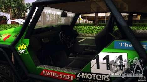 Tiger 4x4 para la visión correcta GTA San Andreas