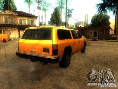 Taxi Rancher para GTA San Andreas vista posterior izquierda