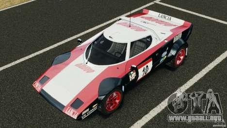 Lancia Stratos v1.1 para GTA 4 vista desde abajo