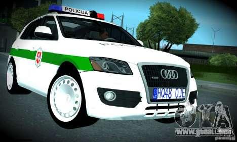 Audi Q5 TDi - Policija para visión interna GTA San Andreas