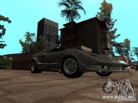 Lamborghini Countach 25th para GTA San Andreas vista posterior izquierda