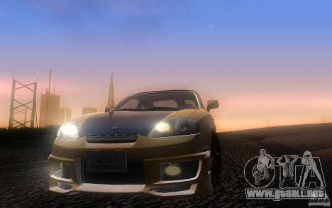 Hyundai Tiburon V6 Coupe tuning 2003 para vista lateral GTA San Andreas