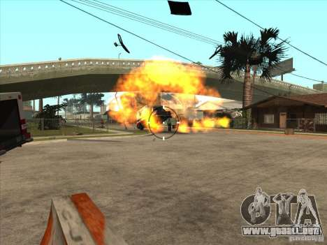 El guión de CLEO: ametralladora en GTA San Andre para GTA San Andreas quinta pantalla