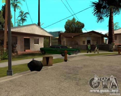 Car in Grove Street para GTA San Andreas segunda pantalla