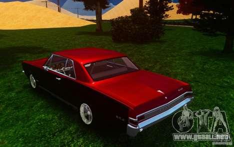 Pontiac GTO 1965 FINAL para GTA 4 Vista posterior izquierda